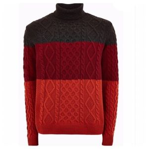 NEW Topman Nordstrom Cable Knit Turtleneck Sweater